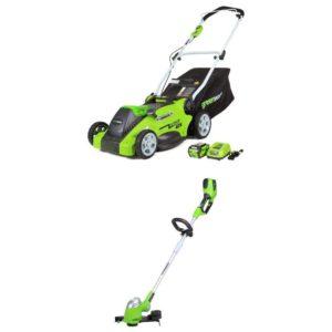 Greenworks 16 inch 40v and Trimmer
